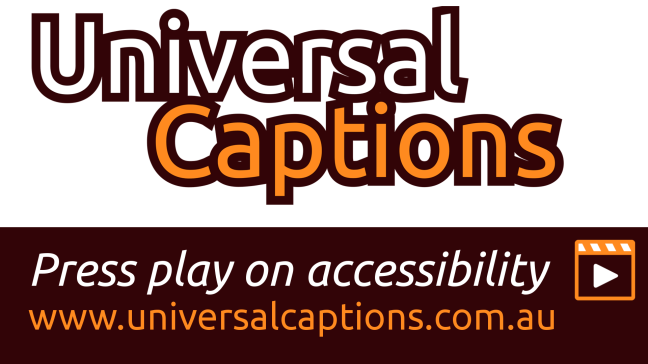 Fiverr order for Universal Captions video